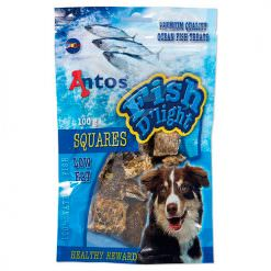 golosinas para perros dados de pescado