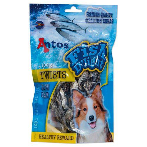 golosinas para perros giros de pescado