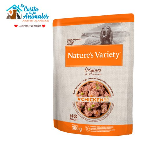 comida húmeda natures variety original pate perros medium/maxi pollo