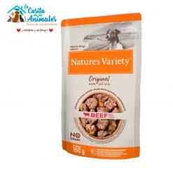 comida húmeda natures variety original pate mini buey