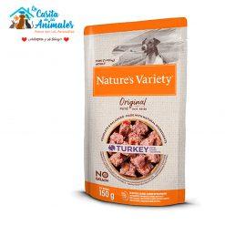 comida húmeda natures variety original pate mini pavo