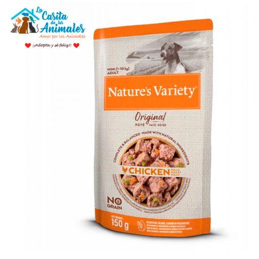 comida húmeda natures variety original pate mini pollo